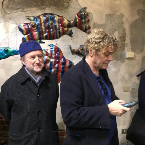 Alberto Casiraghy e Vittorio Raschietti, critico d'arte